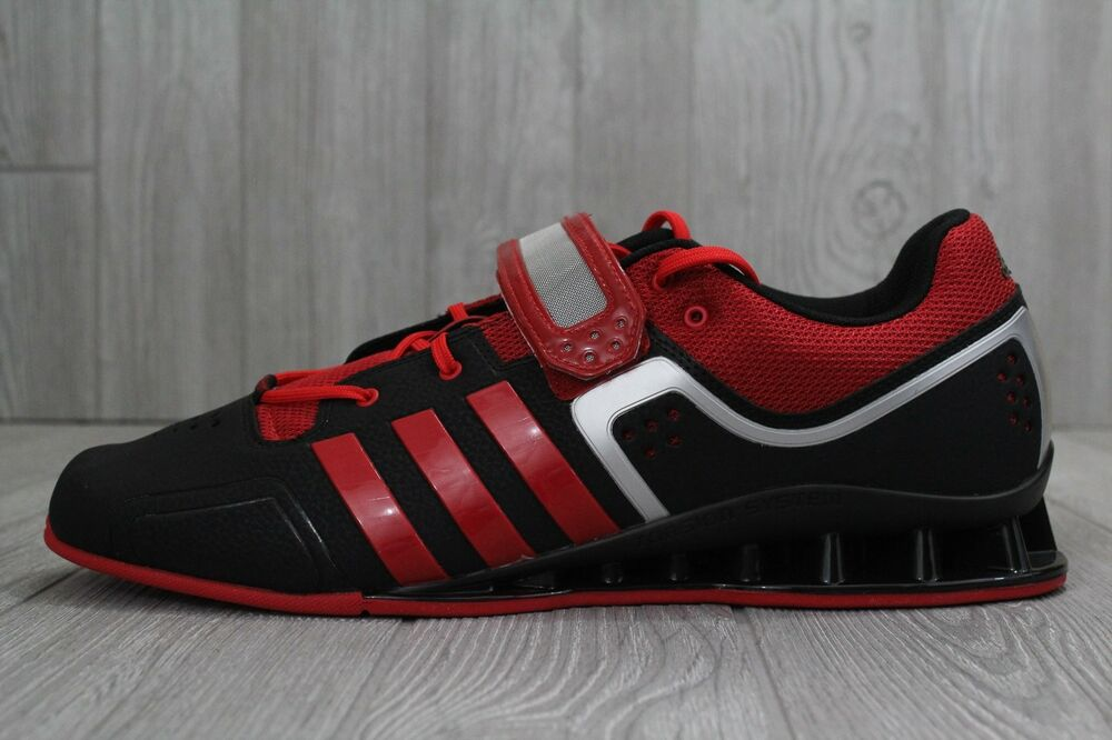 7b0f782ccf28 Details about 30 Adidas Adipower Weightlift M21865 Weightlifting Shoes Men s  Size 15 Red Black
