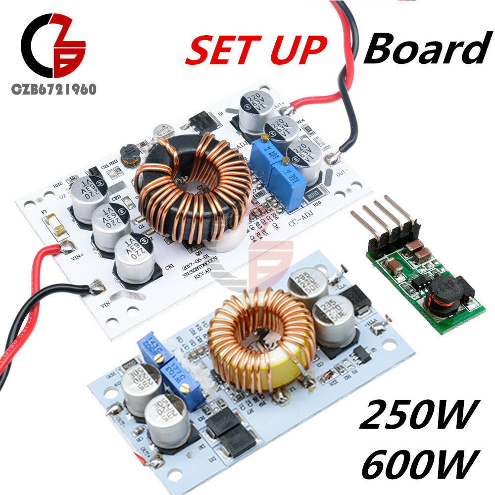 250 600w 10a Step Up Dc Boost Converter Constant Current Power Increase The Ic Lm7805 Supply Led Driver Ebay