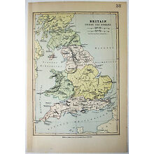 Vintage Map of  Britain Under The Romans by William Collins Sons c1875