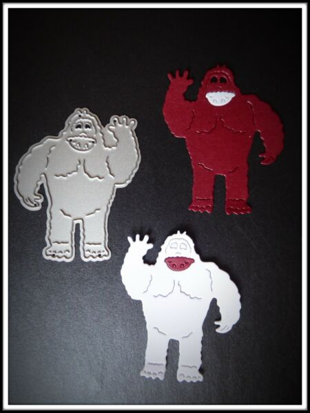 Yeti Abominable Monster Metal Cutting Die,Funny,Stencil,Craft,Card Making,DIY