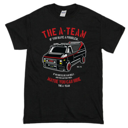 img-The A-Team Van Men's Funny T-Shirts 80's TV Programme T-Shirt Show Mr-T