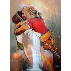 Kyпить First Day In Heaven Painting - I HELD HIM And Would Not Let Him Go Reprint Print на еВаy.соm