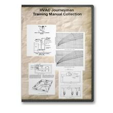 HVAC Heating Air Conditioning Journeyman Training Course How To Collection CD F3