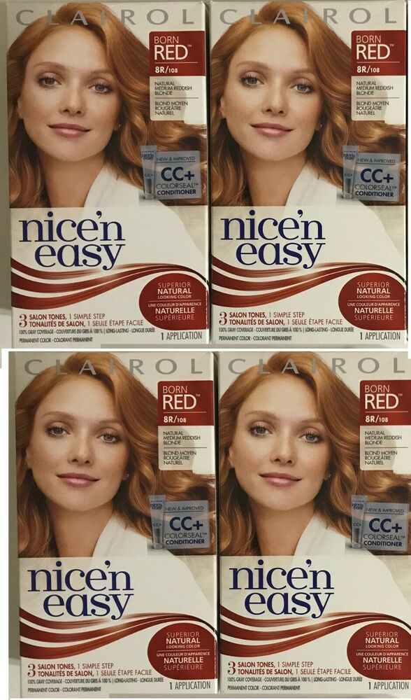 Details about 5 Clairol Nice n Easy Hair Color Born Red 8R 108 Natural  Medium Reddish Blonde 21f59b178626