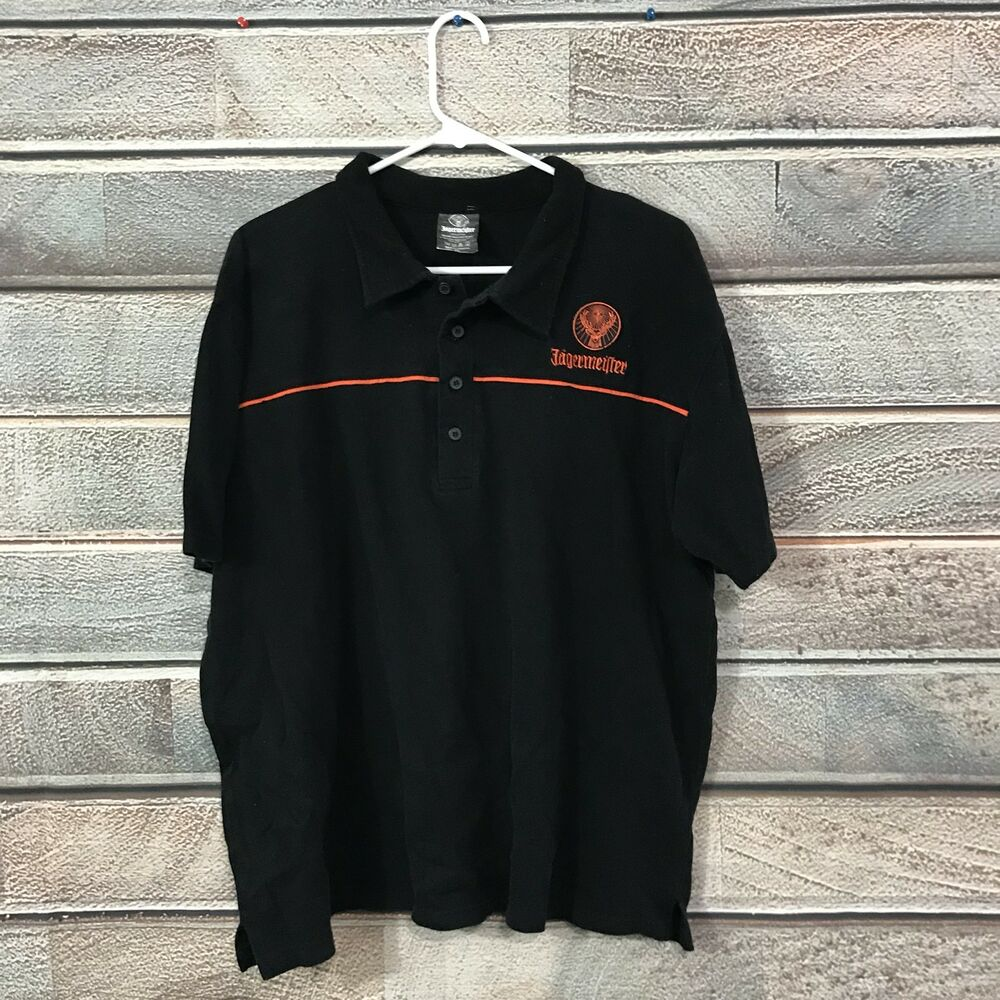 Jagermeifter Jagermeister Black Polo Shirt Bar Mechanic Garage Shop Orange Xl Ebay
