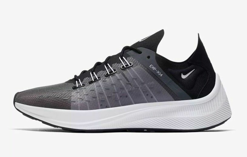 new product ed82c 5dcab Details about New Nike Men s EXP-X14 Running Shoes (AO1554-003) Black Dark  Grey-White-Wolf Gr