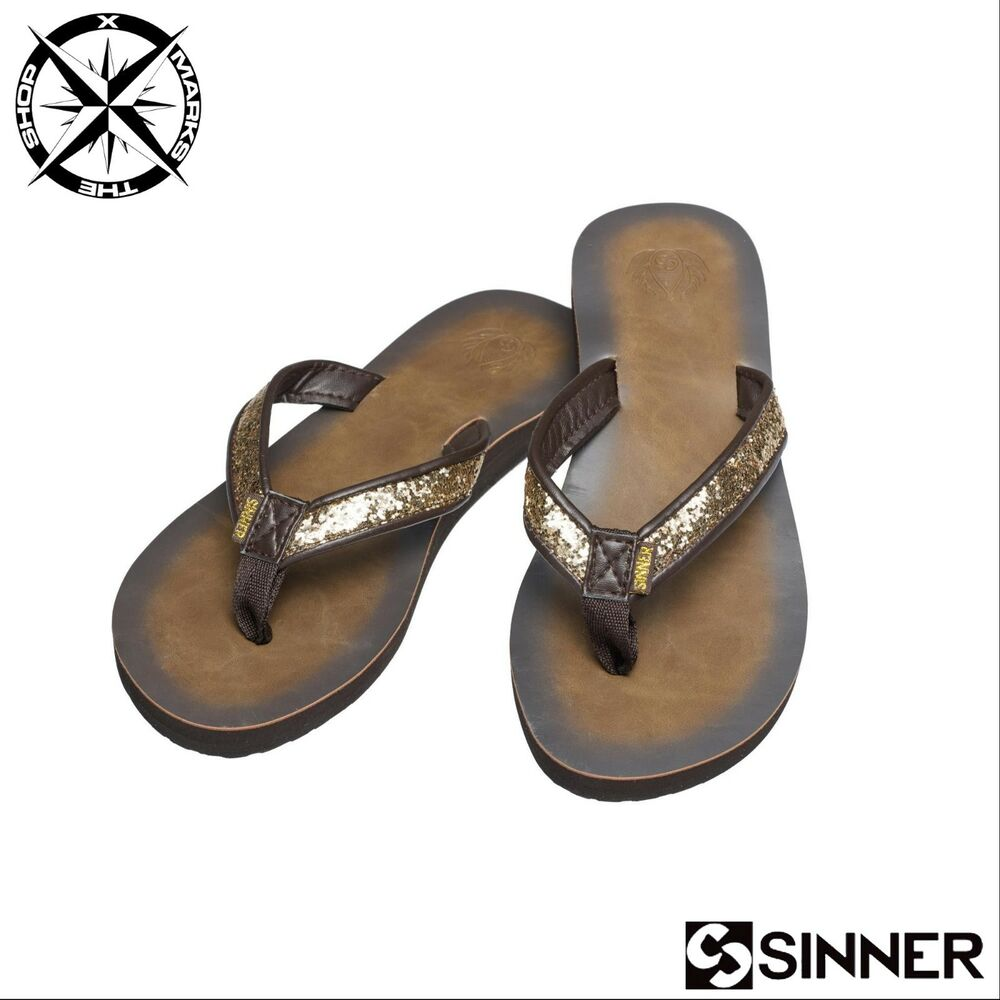 45da2dd71a5 Details about SINNER  COCO  WOMENS SANDALS BROWN UK 5 EURO 38 FLIP FLOPS  BNWT RRP £25