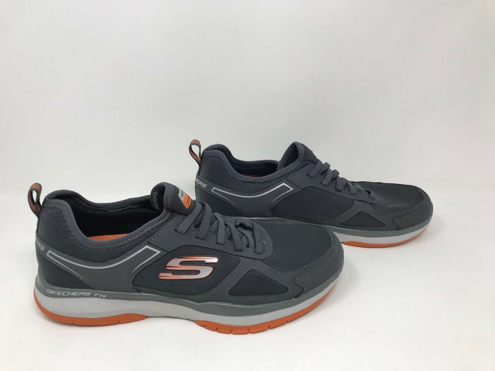 ace344c51a7 Men s Skechers 52610 Burst TR Slip-On Athletic Shoes Charcoal Orange S44