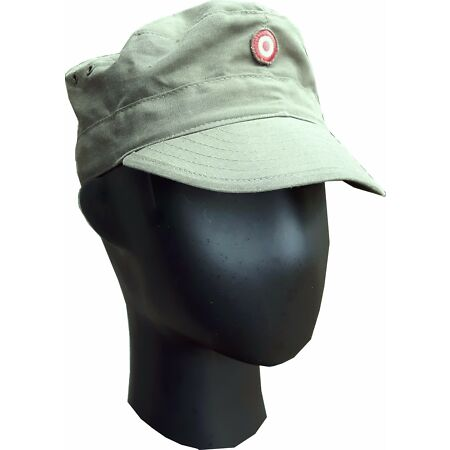 img-Genuine Surplus VINTAGE AUSTRIAN ARMY OLIVE RIPSTOP FATIGUE CAP Hat Utility