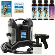 Turbo Tan ULTRA PRO Sunless Airbrush SPRAY TANNING SYSTEM 4 Simple Tan Solutions