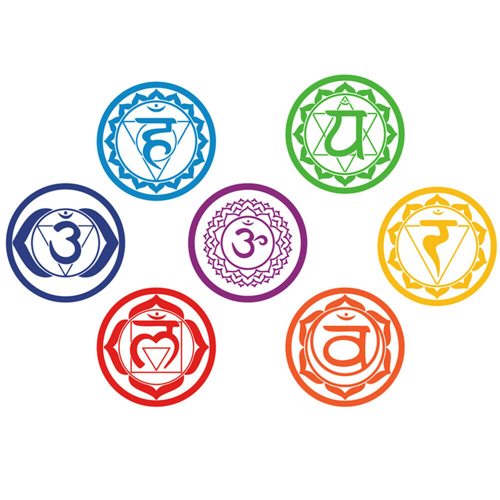 7 Chakras Mandala Yoga Reiki Meditation Symbol Wall Stickers Decal