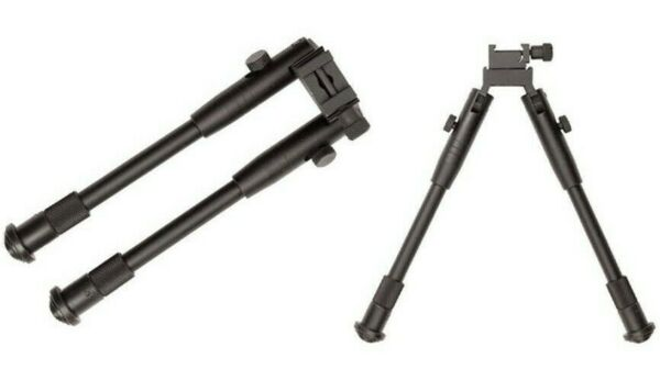 Adjustable Metal Bipod with Picatinny Weaver Style Rail Mount Rifle Stabilizer