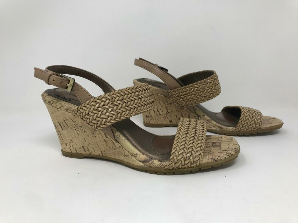 e4bc8927d59d New! Women s Life Stride Persona High Wedge Sandals - Tan K36