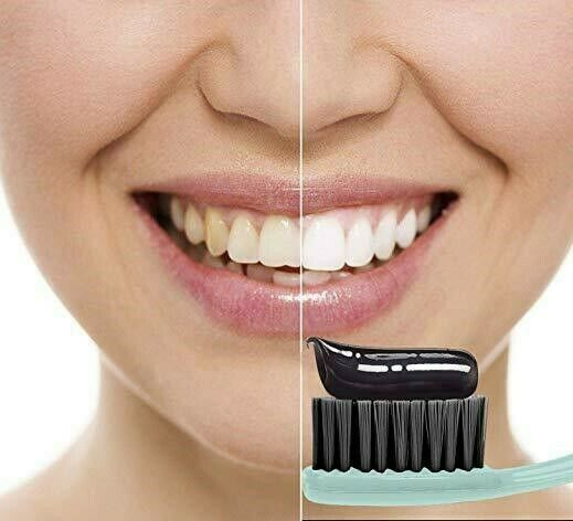 Charcoal Teeth Whitening Black Toothpaste Removes Stains Bad Breath 105g