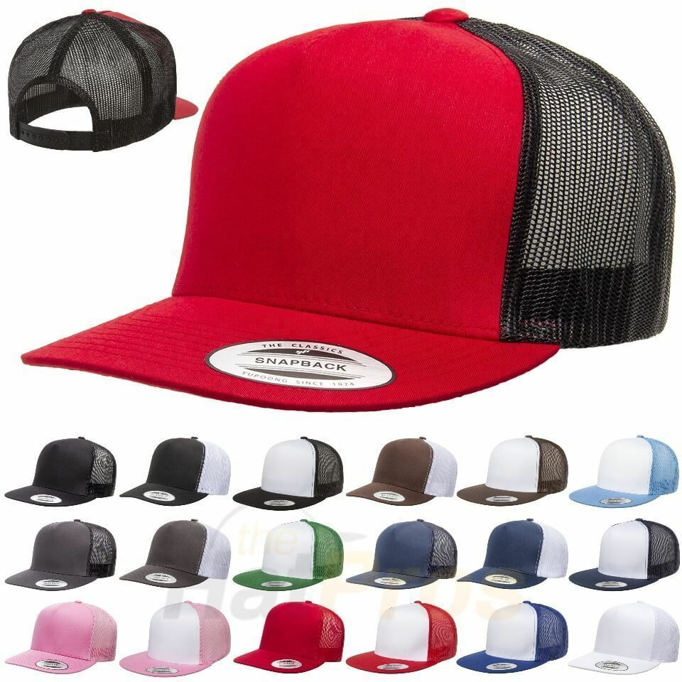 b35361c355f Details about ss Yupoong-Classic-Trucker-Mesh-Hat-Blank-5-Panel -6006-FLEX-FIT-Cap