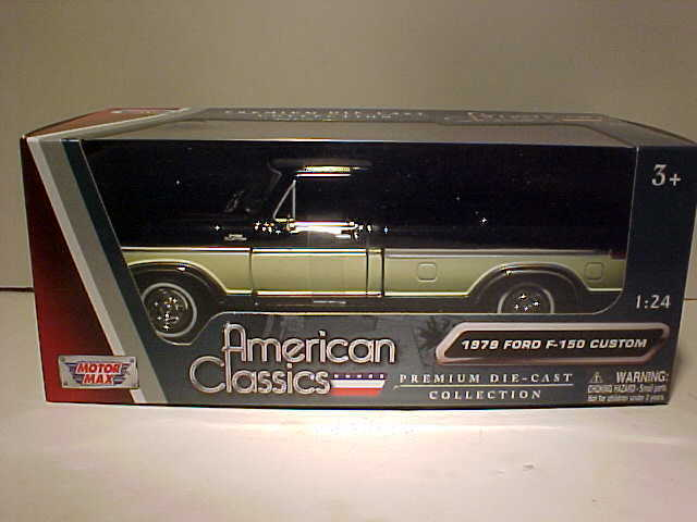 Details About 1979 Ford F 150 Custom Pickup Die Cast Truck 124 Motormax 8 Inch Blue And Cream