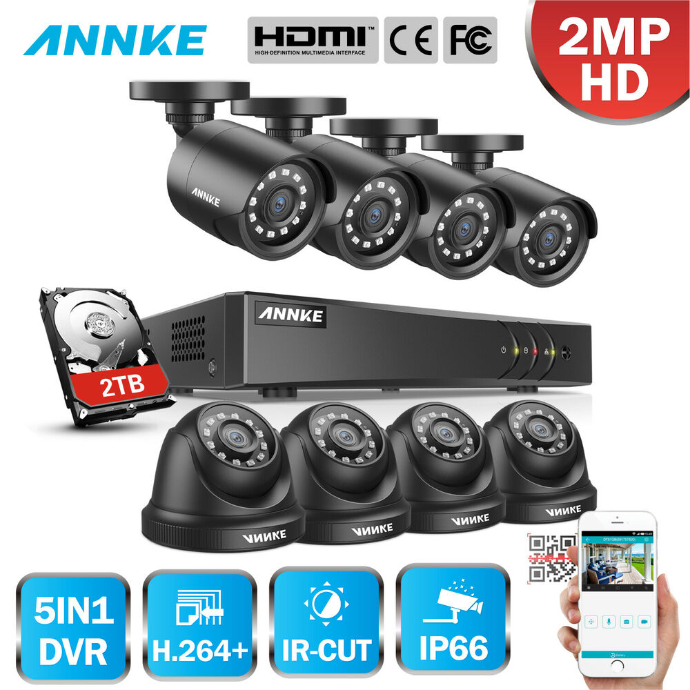 SANNCE 8CH //4CH 1080N P2P DVR 1500TVL Outdoor Security Camera System 1TB// NO HDD