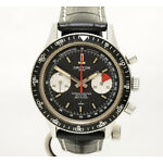 Rare Dial Vintage Croton Aviator Sea Diver Chronograph St Steel Wrist Watch
