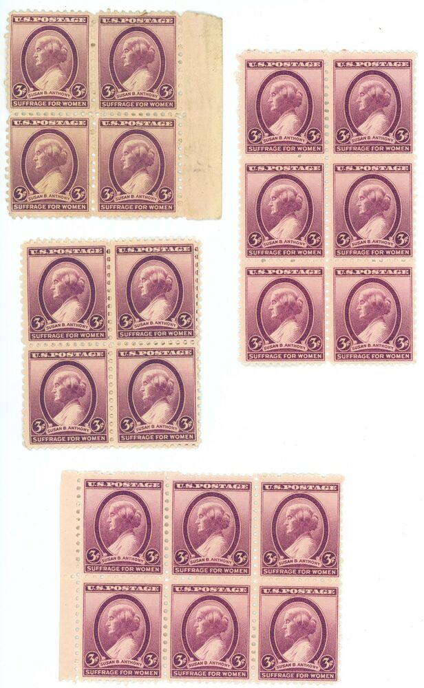 Details About 1936 3c US Postage Stamps Scott 784 Susan B Anthony Lot Of 20