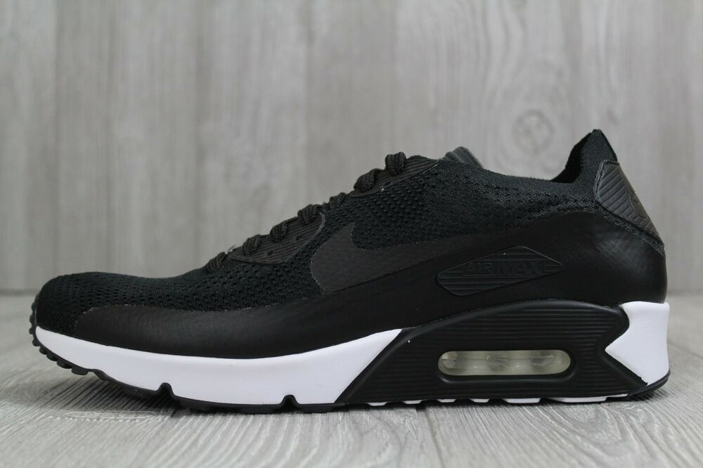 quality design 6ddc3 940b2 Details about 32 Nike Air Max 90 Ultra 2.0 Flyknit Black White Men Shoes  875943-004 10 11 11.5