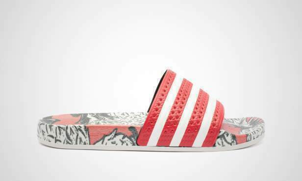 41a649b7a Details about Adidas Originals Adilette Slides Made In Italy Red Multicolor  Women New D96683