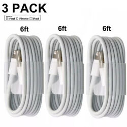 Kyпить 3-PACK 6FT USB Data Charger Cables Cords For Apple iPhone 5 S 6 7 8 X Plus на еВаy.соm