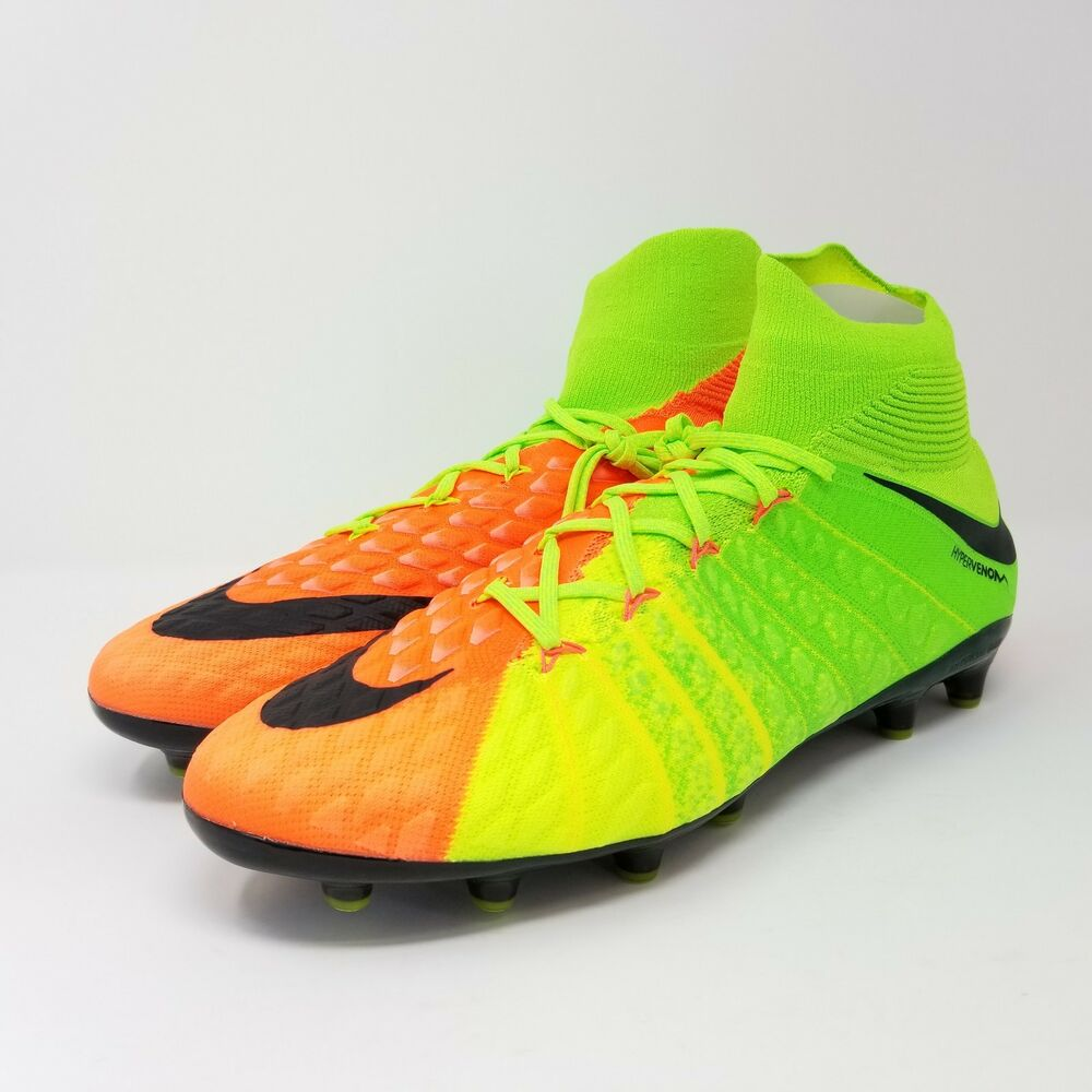 b13f36a42700 Details about Nike Hypervenom Phantom 3 III DF AG PRO Soccer Cleats Green  Black 852550-308