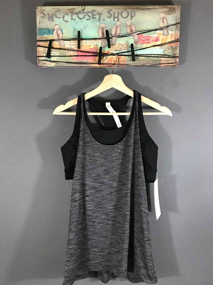 9aafba5f50 Details about Lululemon Twist And Toil Tank Top Built In Bra 2 In 1 Tank  C D Cup Sz 10 NWT