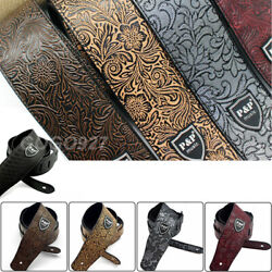 Kyпить Adjustable Leather Guitar Strap Embossed for Acoustic Electric Guitar Strap на еВаy.соm