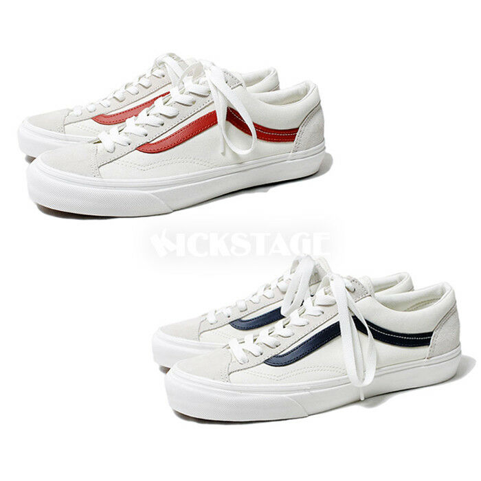 df9d9fd558 Vans Old Skool Style 36 Suede Marshmallow Racing Red Dress Blue