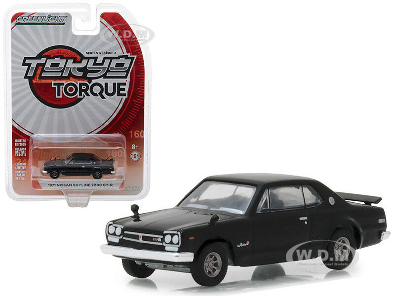 1971 Nissan Skyline 2000 Gt R Black 164 Diecast Model Car By