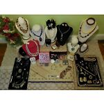 HUGE Vintage-Now Jewelry Lot & Compact-Etienne Aigner Coro Kirks Folly Sterling