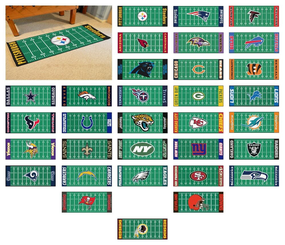 "Football Field Runner Football Team Logo 30"" X 72"
