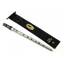 Clarke Sweetone Tinwhistle Pennywhistle SILVER in pouch Key of D Made in UK