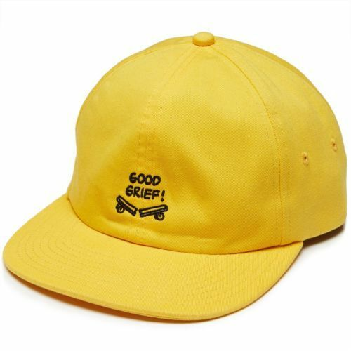 4fd50780140 Details about NWT VANS X Peanuts GOOD GRIEF HAT 6-Panel YELLOW BLACK Jockey  Strap ADULT OS