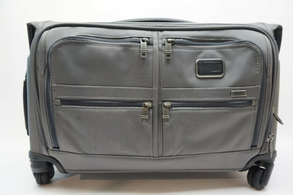 cda381d78c Details about TUMI Alpha 2 Grey Nylon 4 Wheeled Garment Bag Carry On -  22038CG2E