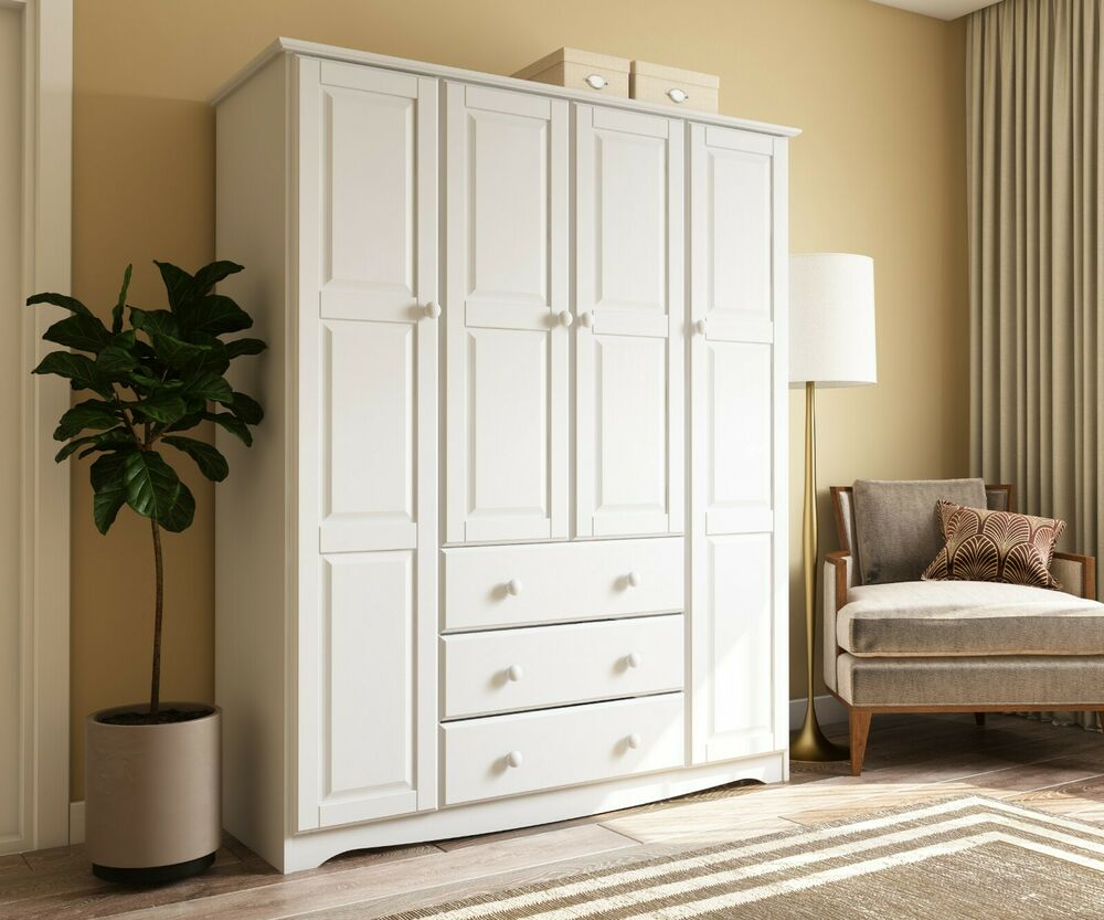 100% Solid Wood Family Wardrobe/Armoire/Closet by Palace ...