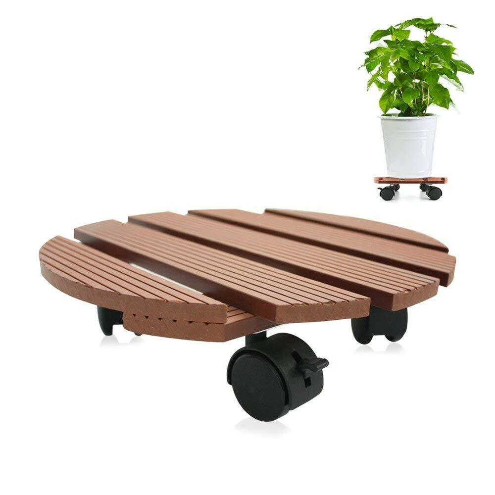 Plant Caddy Moving Rolling Wheeled Planter Flower Pot
