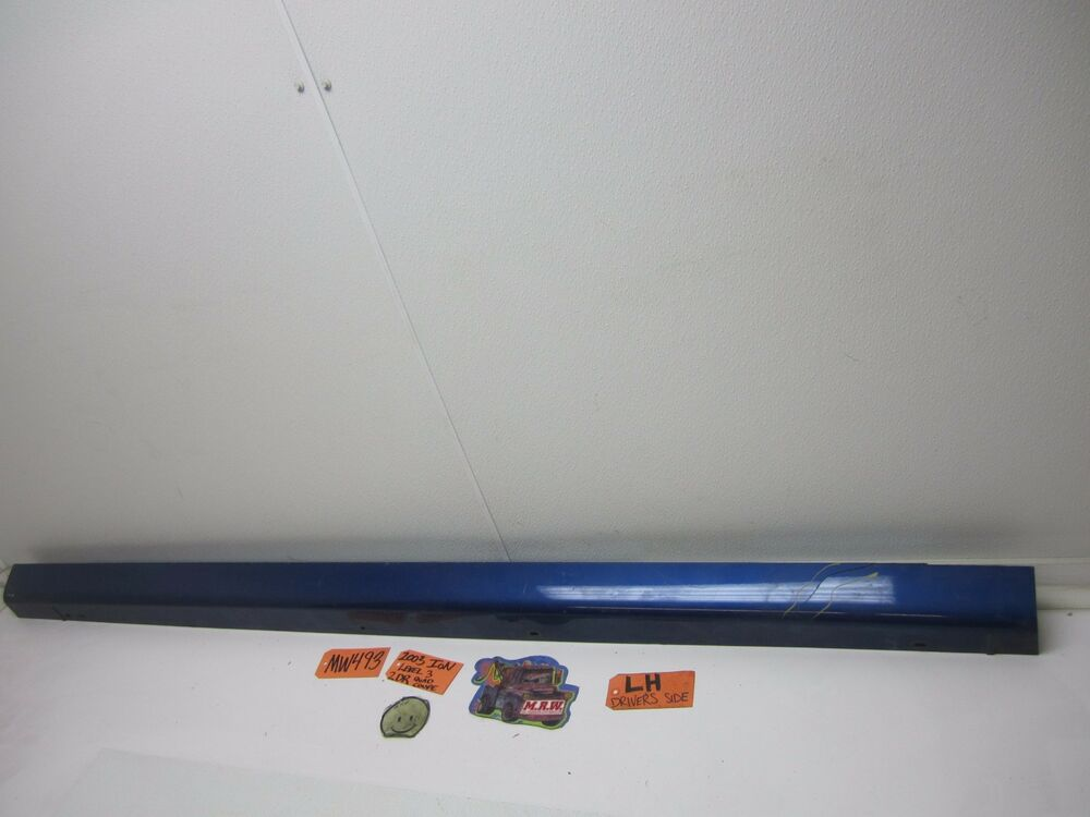 03 07 Ion 2dr Coupe Rocker Panel Molding Door Cover Blue