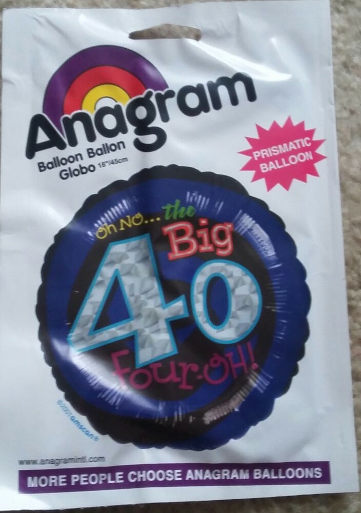 Details About 40th Birthday Decorations Party Supplies 50 Yrs Old Mylar 18 Balloon BIG 4 0h