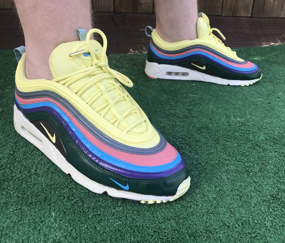 """e24cc4d5df81c Details about Custom """"Sean Wotherspoon"""" Color Way Nike Air Max 97 x Air Max  90 Sole Swap"""