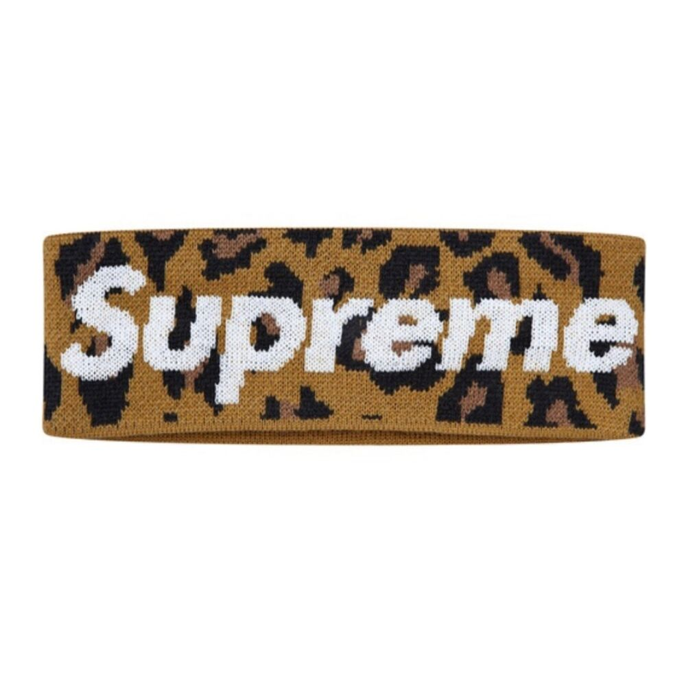 f8314d37531 Details about Supreme New Era Big Logo Headband Leopard Box Logo