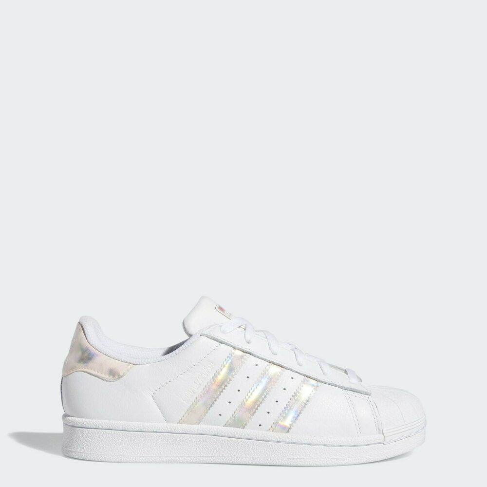 official photos 03d51 e0e1d Details about New Adidas Youth Originals Superstar GS Shoes (DB2963)  White  White-Metallic