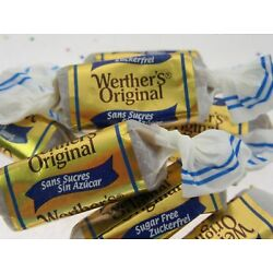 Werther's Sugar Free Creamy Original 8oz Werthers Soft Chewy Candy 1/2lb Sweets