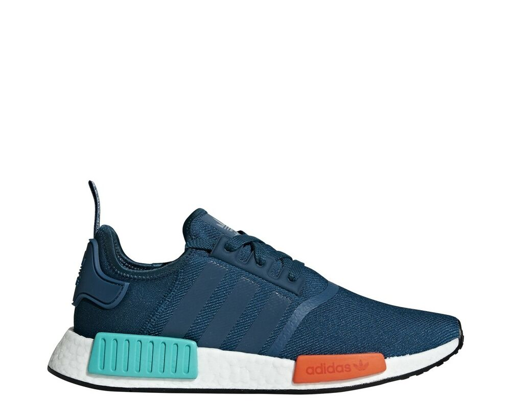 e66debe6d73ea Details about New ADIDAS Men Originals NMD R1 Boost Shoes (G26510) Blue  Orange-Turquoise