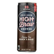 High Brew Coffee Coffee - Ready to Drink - Black and Bold - Dairy Free - 8 oz -
