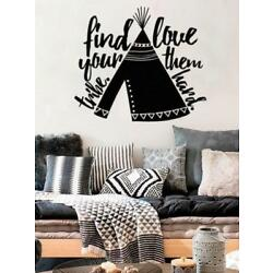 Find Your Tribe Love Them Hard With Teepee Indian Boho Bohemian Wall Decal Stick