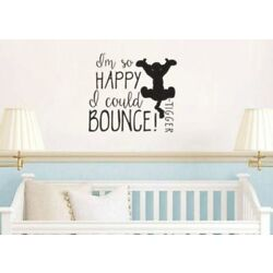 Tigger So Happy I Could Bounce Wall Decal