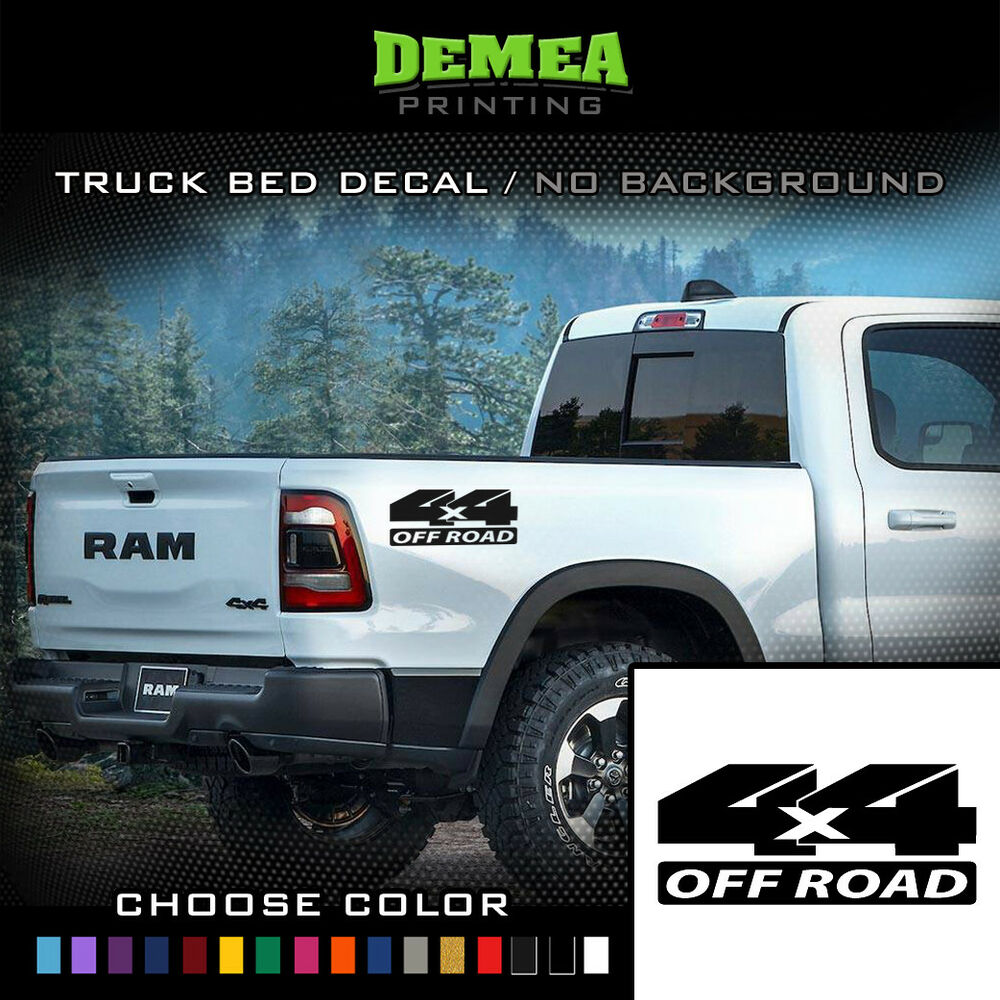 Details about dodge ram 4x4 off road 2x bed truck decal sticker 150025003500rebel