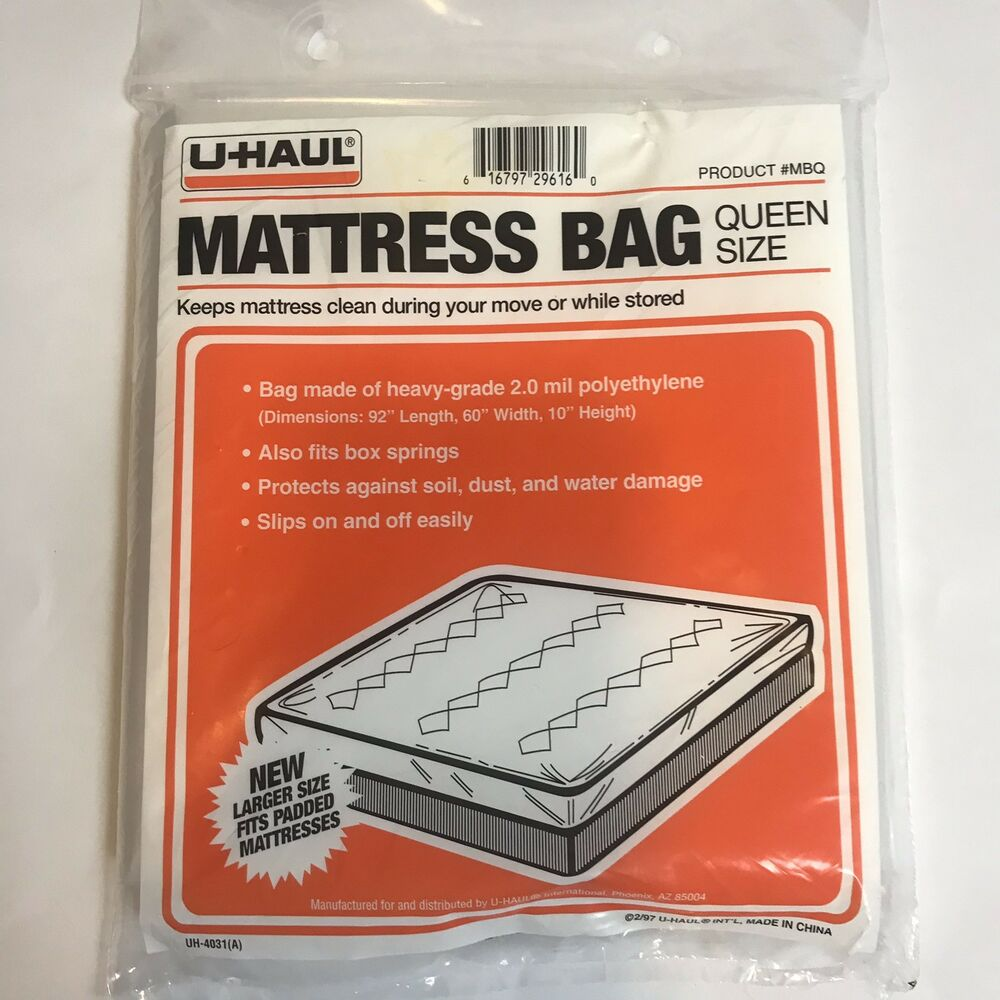 Heavy Duty Mattress Bag Queen Size Moving Storing Bedding ...